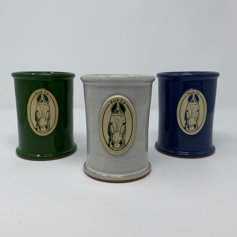 Perk Up Saddlebred Horse Stoneware Pencil Cup