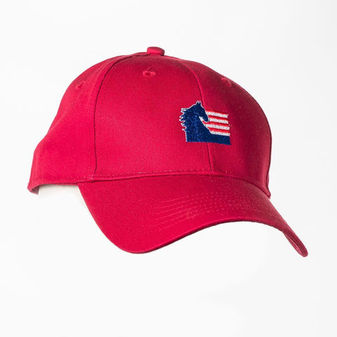 American Saddlebred Horse Association Hat Red