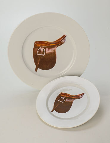 Saddle Seat Dinner and Salad/Dessert Plate