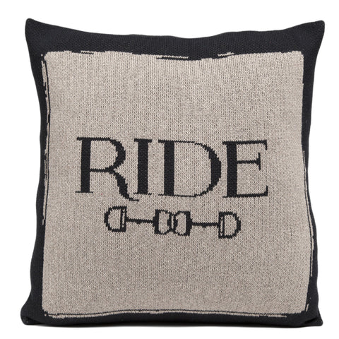 "Horse Bits ""Ride"" Pillow"