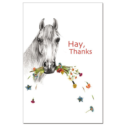 """Hay, Thanks"" Thank You Cards"
