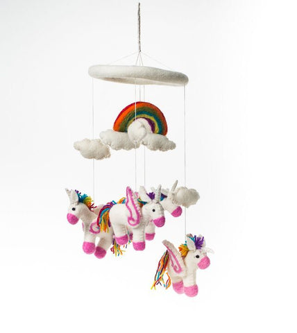 Felt Unicorn Baby Mobile