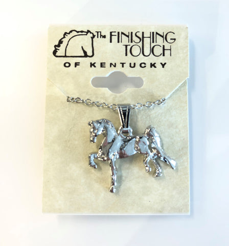 Silver Saddlebred Necklace