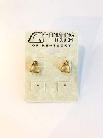 Gold Stirrup Earrings