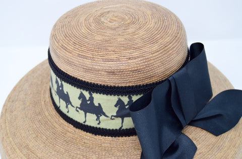 Saddlebred Print Palm Straw Hat