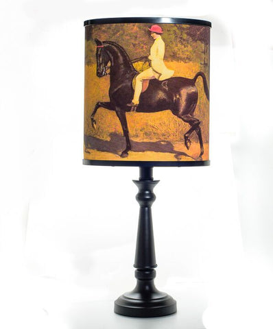 """Lady In The Red Hat"" Saddlebred Horse Lamp"