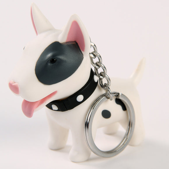 Heart Shaped Nose Bull Terrier Keychain