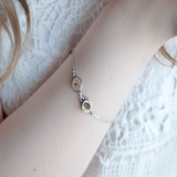 Birth month flower bracelet| mother's jewelery