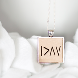I am greater than my highs and lows keepsake necklace