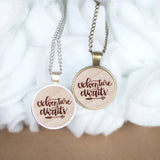 Adventure Awaits | Hand Lettered Wooden necklace