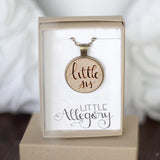 Big sis | Middle sis | Little sis wooden necklace