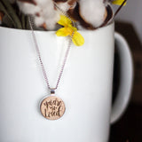 You are so loved hand lettered wooden necklace