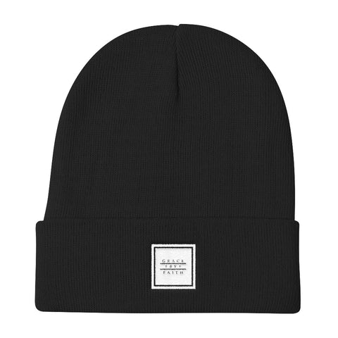 Gracebyfaith box logo Knit Beanie
