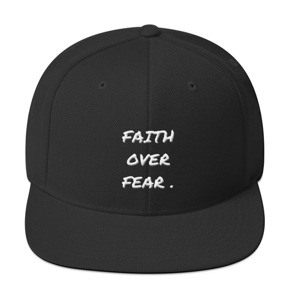 faith over fear Snapback Hat