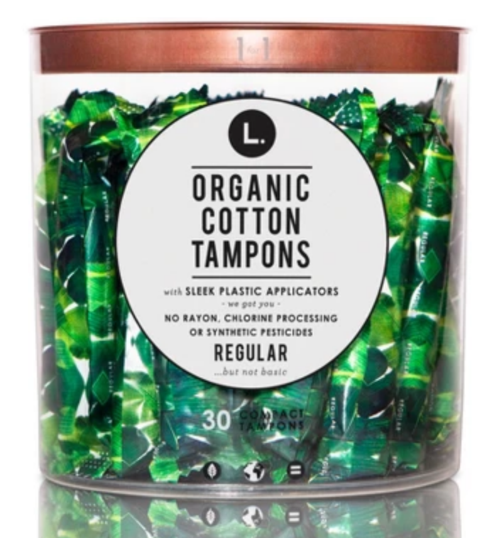 L. Organic Cotton Tampons - Regular Absorbency - 30ct