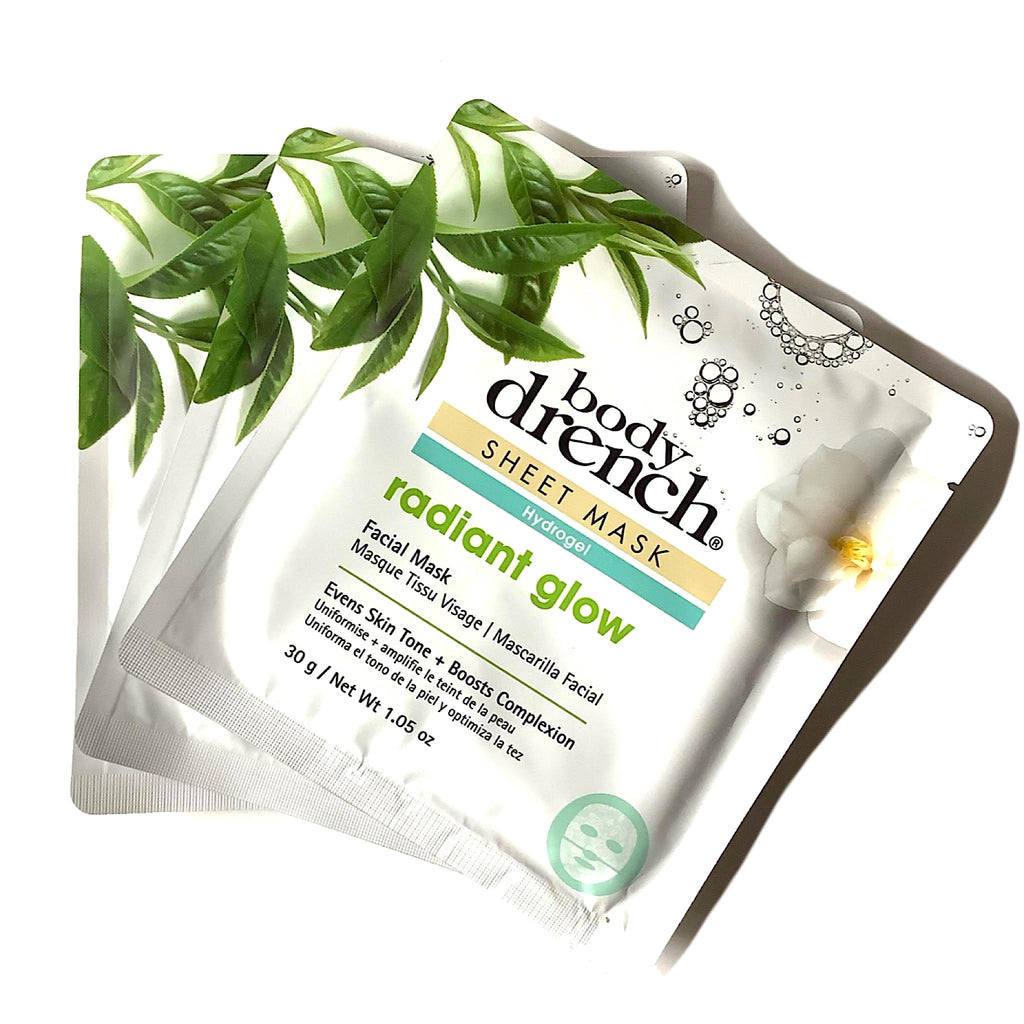 Body Drench® Radiant Glow Sheet Mask 3 Pack