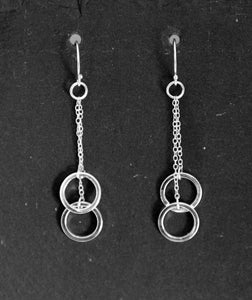 Long earrings - double rings