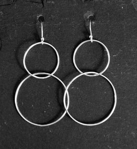 Long earrings - double circles