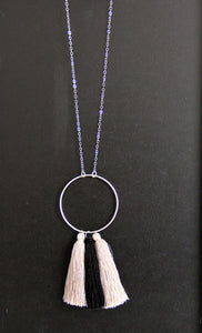 Long Necklace - Three Tassels