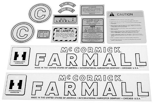 D-IHCC DECAL SET FARMALL C