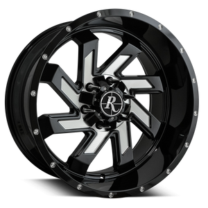 Remington Off-Road Wheels SAW Gloss Black Milled Face