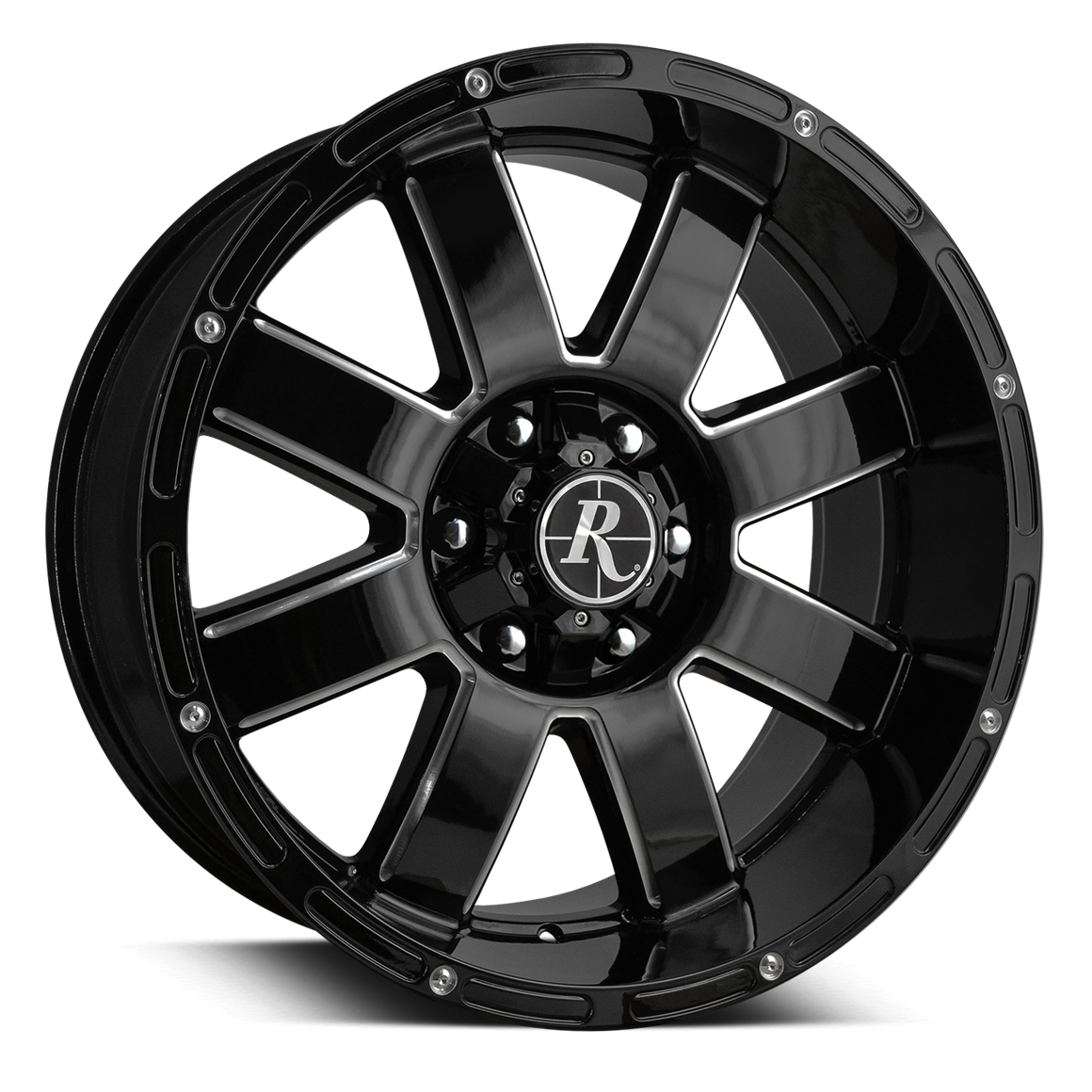 Remington Off-Road 8-Point Wheels Gloss Black Milled