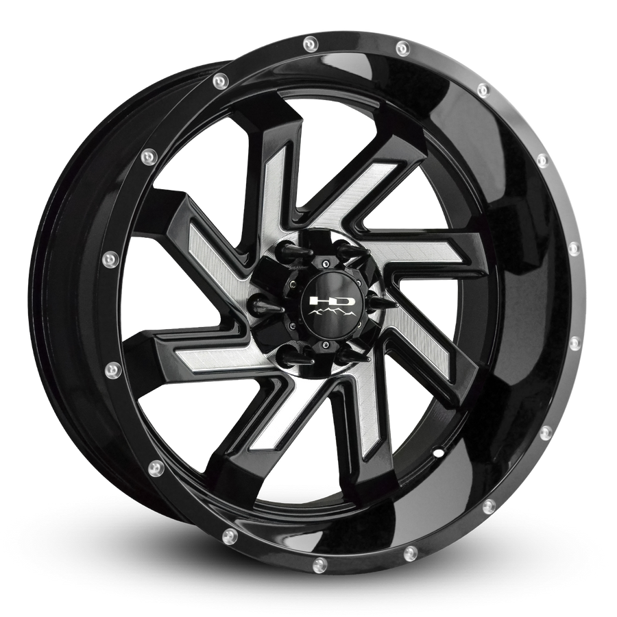 HD Off-Road Wheels Truck & SUV Wheels 20x9.0 | 6x135/6x139.7 | et15m | 5.6 in | 106.2mm HD Off-Road Wheels SAW | Gloss Black with Milled Face