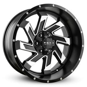 HD Off-Road Wheels Truck & SUV Wheels 20x10.0 | 6x135/6x139.7 | et-25m | 4.53 in | 106.2mm HD Off-Road Wheels SAW | Satin Black with Machined Face