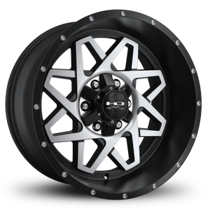 HD Off-Road Gridlock Wheels | Satin Black Machined