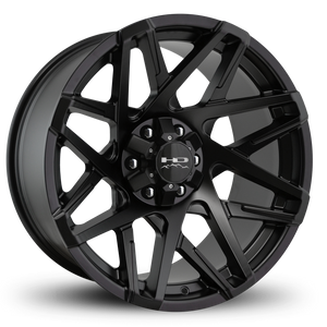 HD Off-Road Wheels Truck & SUV Wheels 20x9.0 | 6x135/6x139.7 | et 0mm | 5.0 in | 106.2mm HD Off-Road Canyon Wheels | All Satin Black