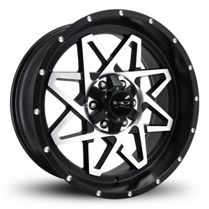 HD Off-Road Wheels Truck & SUV Wheels 20x9.0 | 6x135/6x139.7 | et -10mm | 4.5 in | 106.2mm HD Off-Road Gridlock Wheels | Satin Black Machined