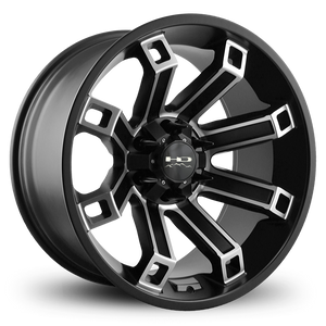 HD Off-Road Wheels Truck Wheels 20x10.0 | 6x135/139.7 | et-35mm | 4.13 in | 106.2mm HD Off-Road Hollow Point Wheels | Satin Black Machined