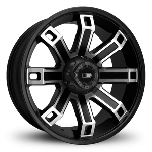 HD Off-Road Wheels Truck Wheels 20x9.0 | 5x139.7 | et0mm | 5.0 in | 78.1mm HD Off-Road Hollow Point Wheels | Satin Black Machined