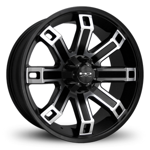 HD Off-Road Wheels Truck Wheels 20x9.0 | 6x135/6x139.7 | et0mm | 5.0 in | 106.2mm HD Off-Road Hollow Point Wheels | Satin Black Machined