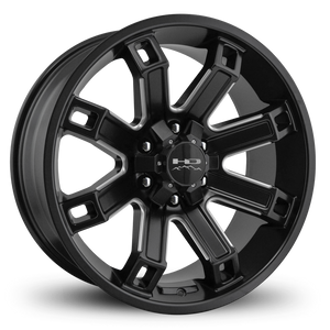 HD Off-Road Wheels Truck Wheels 20x9.0 | 6x135/6x139.7 | et0mm | 5.0 in | 106.2mm HD Off-Road Hollow Point Wheels | Satin Black Milled