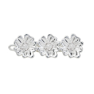 AYM 1 x 3 Poppy flower Hair accessories Silver