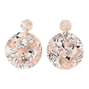 Anca disc earrings - Miami rose - AYM STORE
