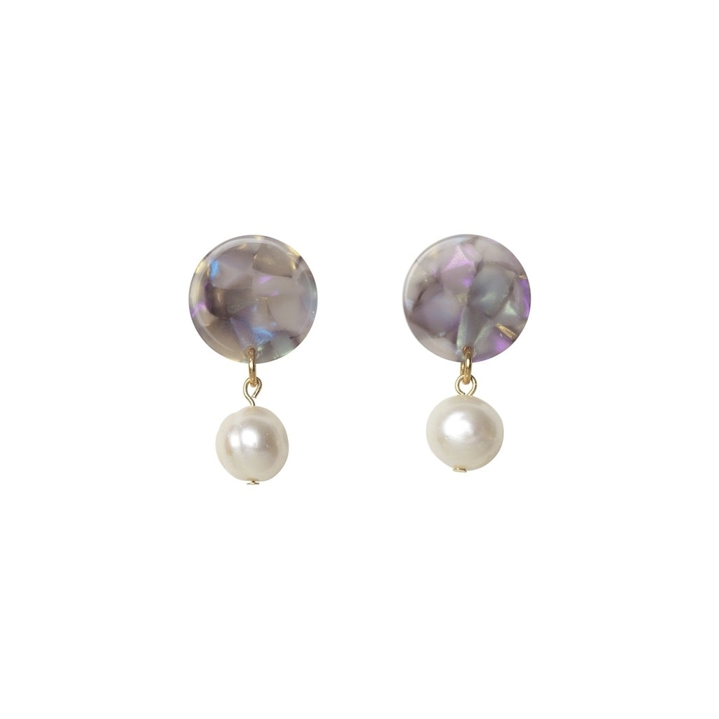 Andréia freshwater pearl earrings - Lisbon Shell - AYM STORE