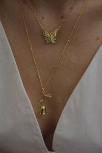 AYM Lotta Butterfly Necklaces Gold