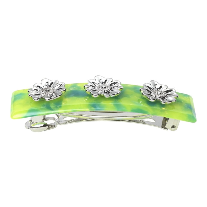 AYM Poppy Flower Hair clip  Malibu Lime