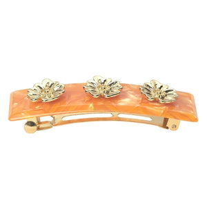 Poppy Flower Hair clip - Ventura Orange - AYM STORE