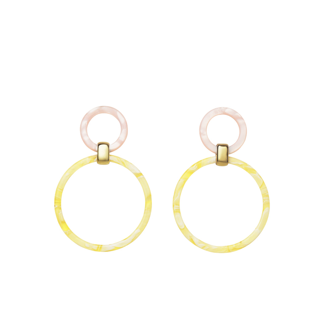 AYM Amy Earrings Pink/Vanilla