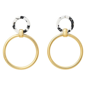 AYM Angharad Earrings Berlin black/white