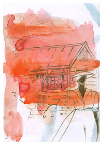 🌴 'HER CHATTEL HOUSE ' WATERCOLOUR  8X5 GICLÈE ART PRINT Black Woman Barbados Christmas Kwanzaa  Home Decor GIFTS