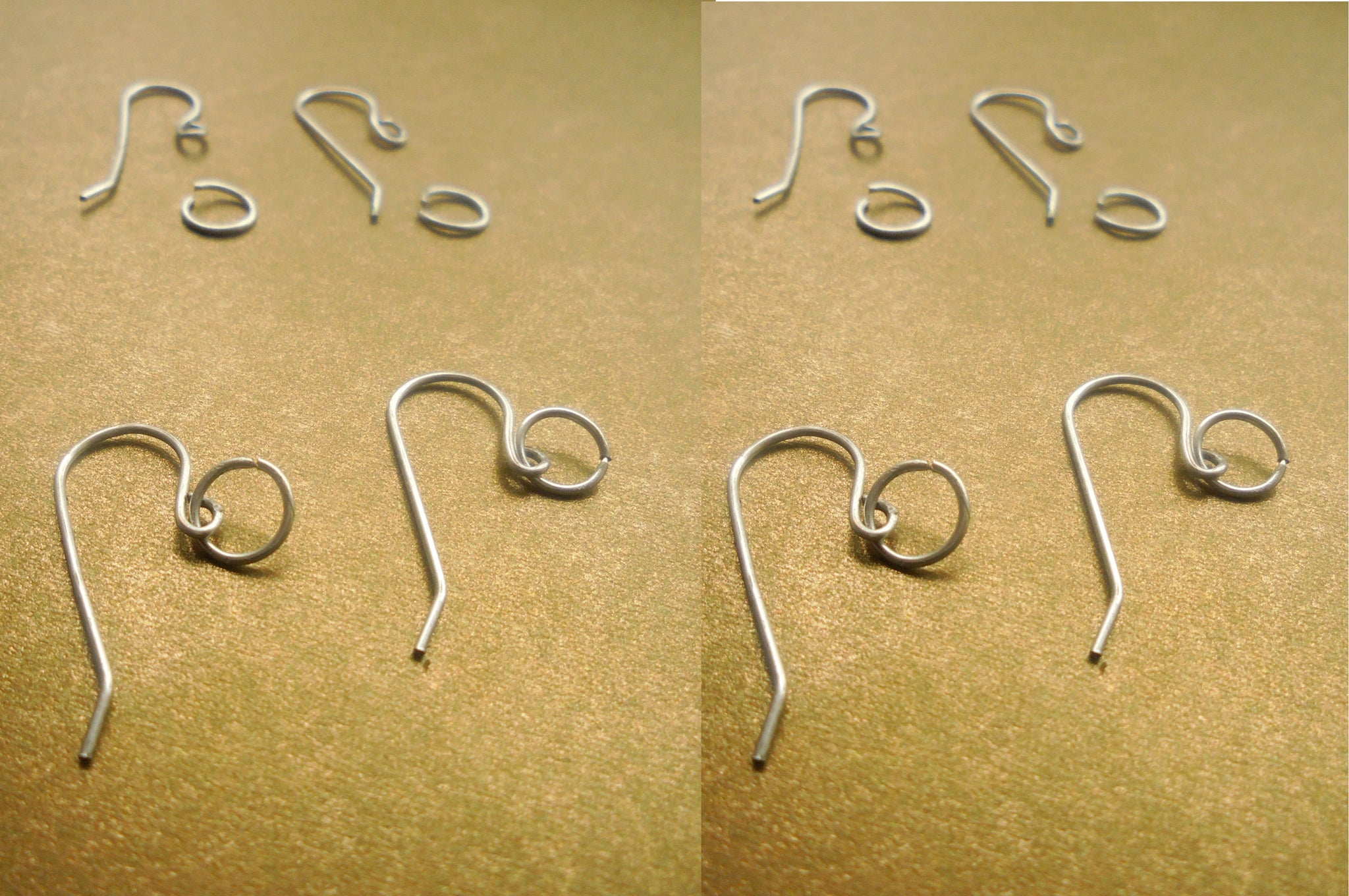 🌴  REPLACEMENT EAR HOOK AND JUMP RING (4 PAIRS) STERLING SILVER STOCKING FILLERS