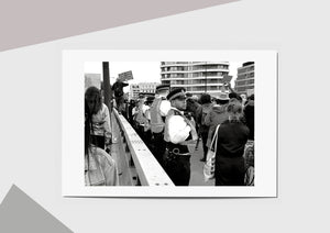 🌴NEW: MARCHING OVER VAUXHUAL BRIDGE A6  POSTCARD PRINT LIMITED EDITION 50