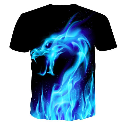 Blue Fire Dragon Shirt