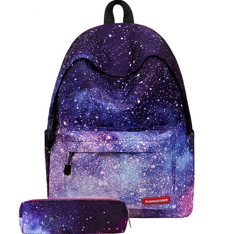 Purple Starry Sky Backpack