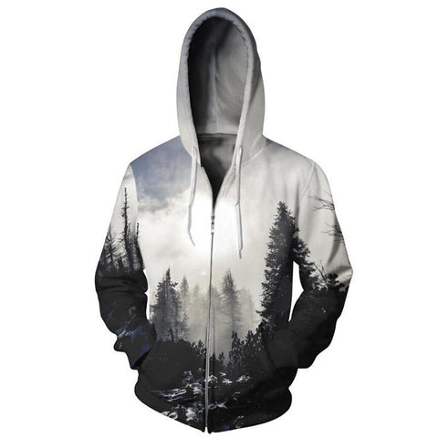 Mystic Tree Zip Up Hoodie