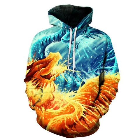Fire and Ice Dragon Hoodie